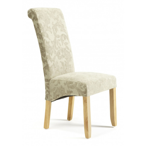 Serene Kingston Sage Floral Fabric Dining Chair With...