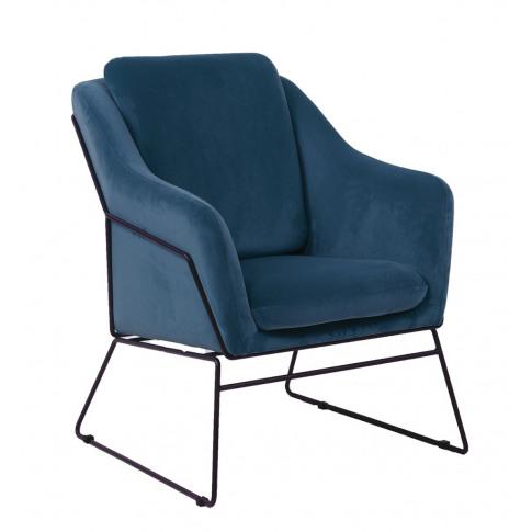 Klaus Blue Velvet Accent Chair