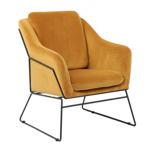 Klaus Mustard Velvet Accent Chair