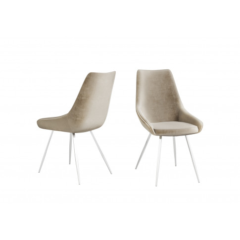Fairmont Lanna Mink Velvet Dining Chair