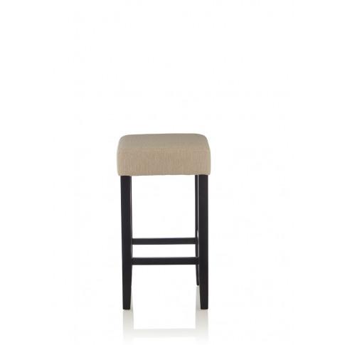Lantana Mink Black Fabric Fixed Counter Height Barstool