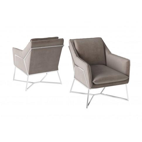 Fairmont Lara Mink Velvet Lounge Chair