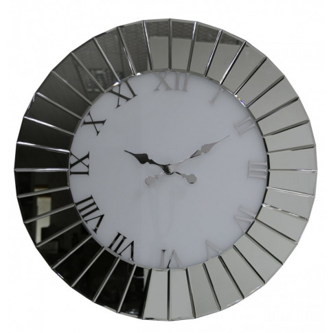 Large Round Fan Effect Mirror Wall Clock