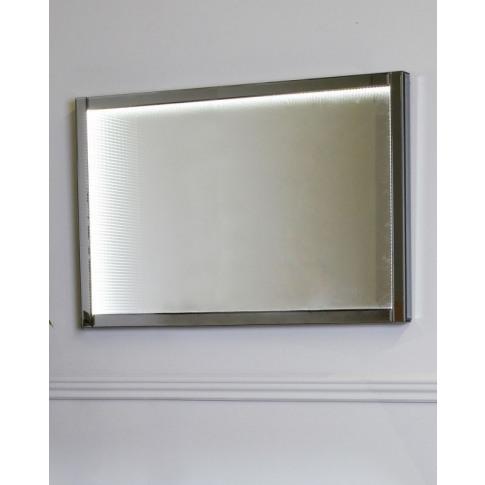 Large Smoked Mirror Infinity Wall Light