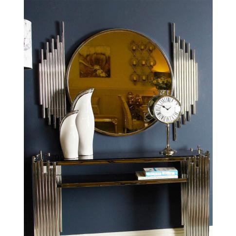 Lauren Polished Steel Wall Mirror