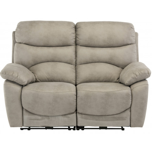 Layla Natural Fabric 2 Seater Electric Recliner Sofa