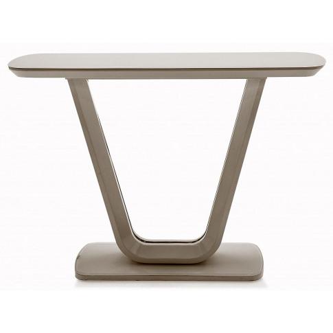 Lazzaro Cappuccino Matt Gloss Console Table