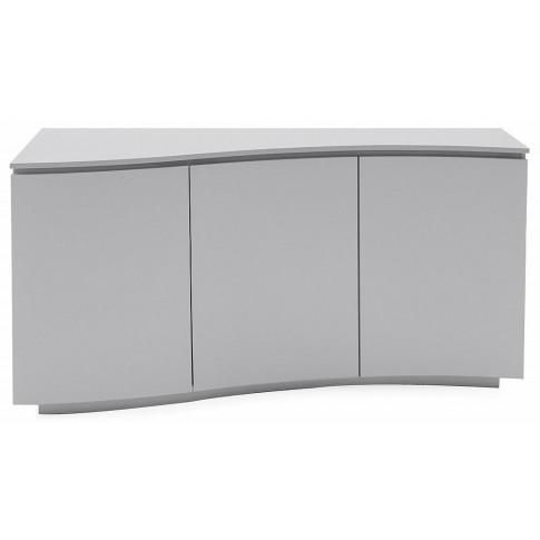 Lazzaro Light Grey Matt Gloss Sideboard With Led