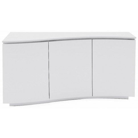 Lazzaro White High Gloss Sideboard With Led