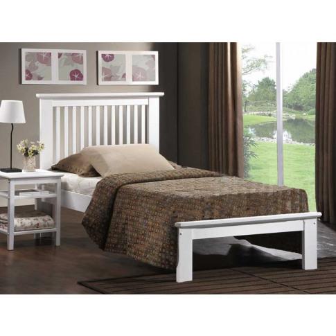 Paris 3ft Single White Oak Bed