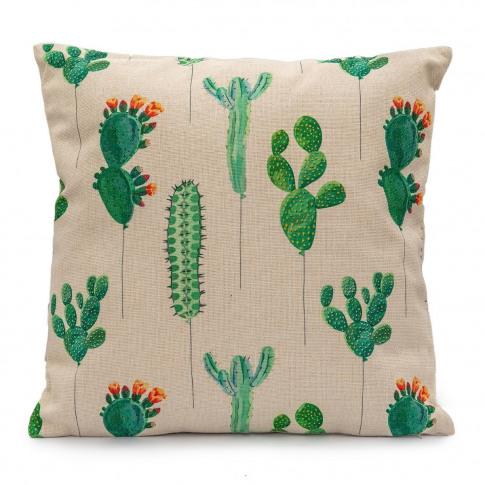 Leisuregrow Cacti Emerald Green Fabric Scatter Cushion