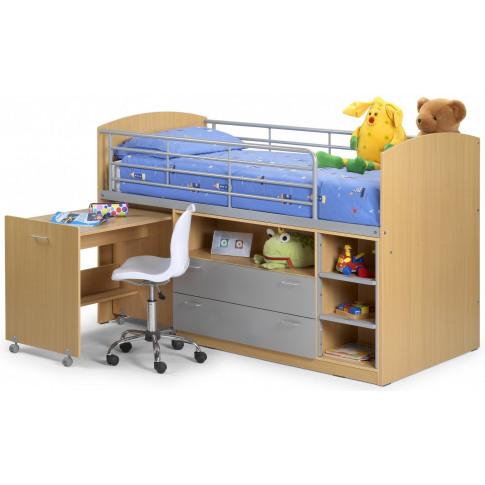Julian Bowen Leo 3ft Single Storage Sleeper Study Bu...