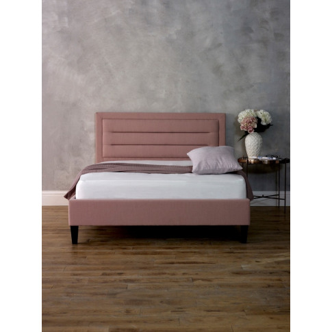 Limelight Picasso 4ft6 Double Pink Fabric Bed