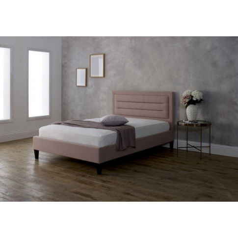 Limelight Picasso 4ft Small Double Pink Fabric Bed