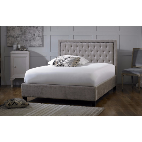 Limelight Rhea 5ft King Size Mink Fabric Bed