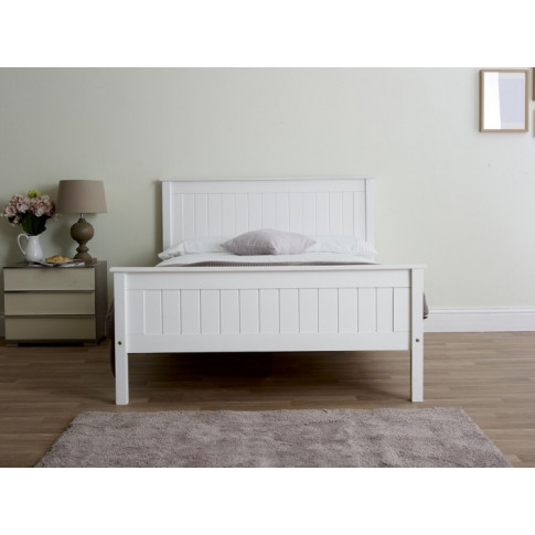 Limelight Taurus 5ft Kingsize White Wooden Bed