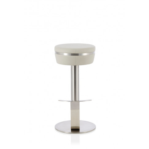Lotti Grey Faux Leather Fixed Bar Height Barstool
