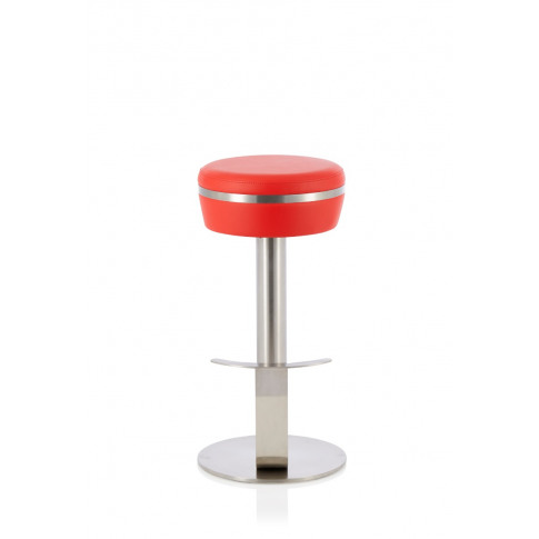 Lotti Red Faux Leather Fixed Bar Height Barstool