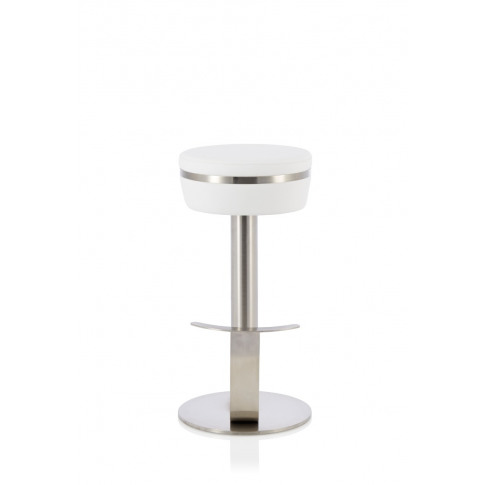 Lotti White Faux Leather Fixed Bar Height Barstool