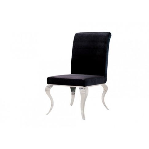 Louis Black Velvet Dining Chair