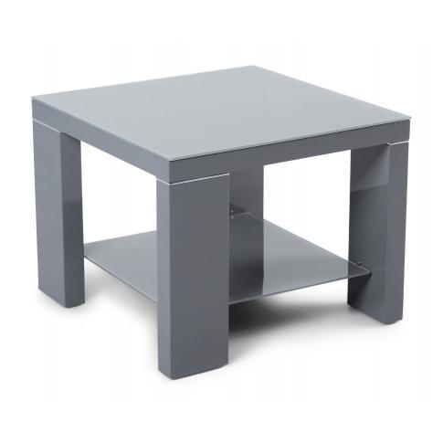 Fairmont Lucca Dark Grey High Gloss Side Table