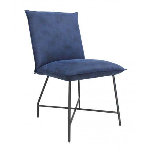 Lukas Indigo Blue Fabric Dining Chair