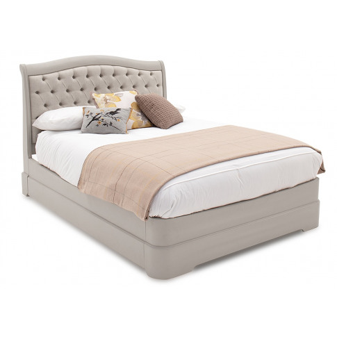 Mabel 4ft6 Double Taupe Uph Fabric Bed