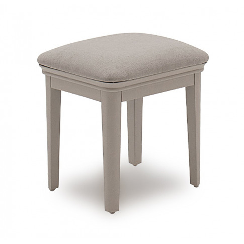 Mabel Taupe Fabric Stool
