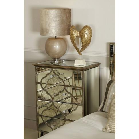 Madeira Mirror 4 Drawer Cabinet