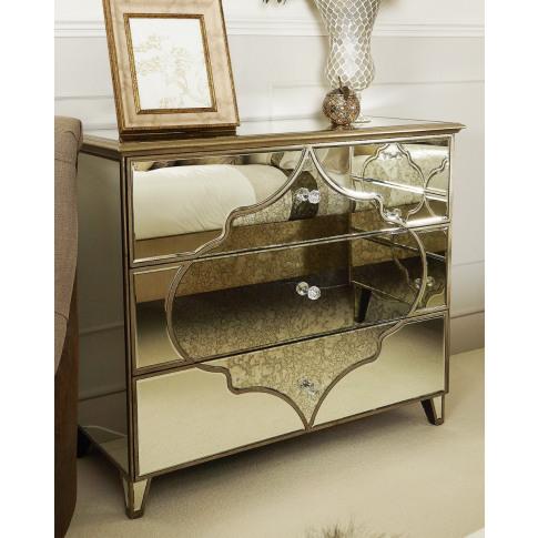 Madeira Mirror Large 3 Drawer Cabinet