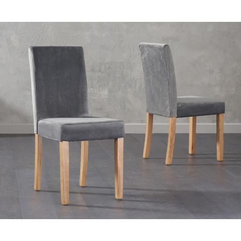 Maiya Plush Grey Fabric Dining Chair