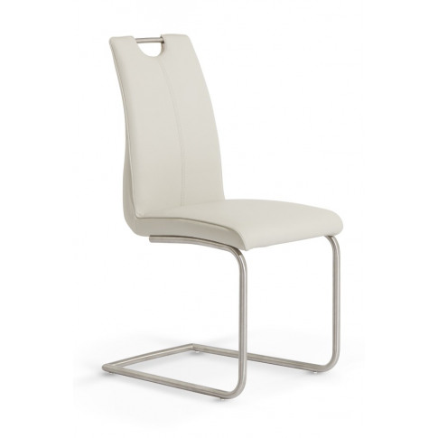 Serene Malaga Taupe Leather Dining Chairs (Pair)