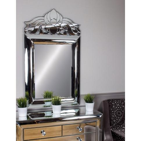 Monroe Florence Silver Mirror