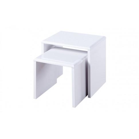Julian Bowen Manhattan White High Gloss Nest Of Tables