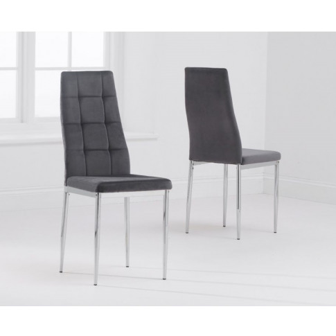 Maria Grey Fabric Dining Chair