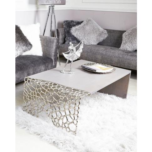 Maria Grey Wooden Coffee Table