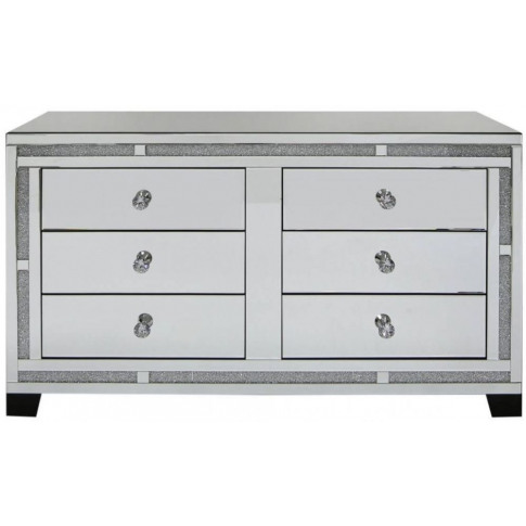 Massimo Mirror 6 Drawer Cabinet