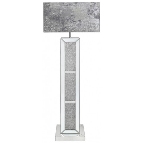 Massimo Mirrored Floor Lamp With Marble Grey Shade