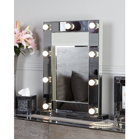 Massino Smoked Broadway 9 Light Vanity Mirror
