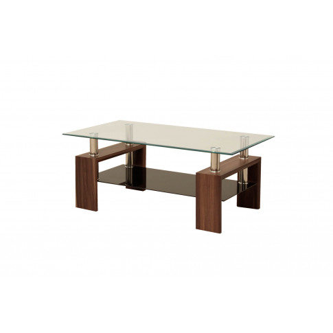 Maya Walnut Glass Coffee Table