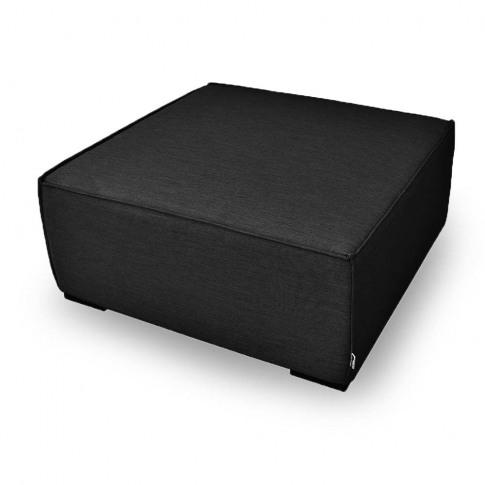 Maze Apollo Charcoal Fabric Footstool