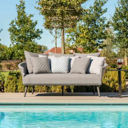 Maze Ark Flanelle Grey Outdoor Fabric Daybed