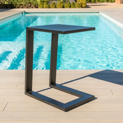 Maze Black Aluminium Side Table