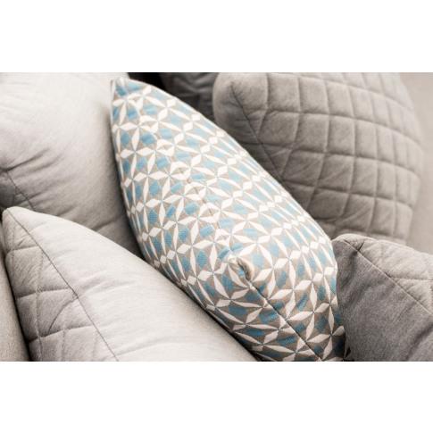 Maze Blue Mosaic Scatter Cushion