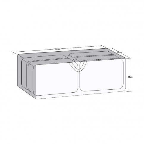 Maze Outdoor Cover For Large Storage Box