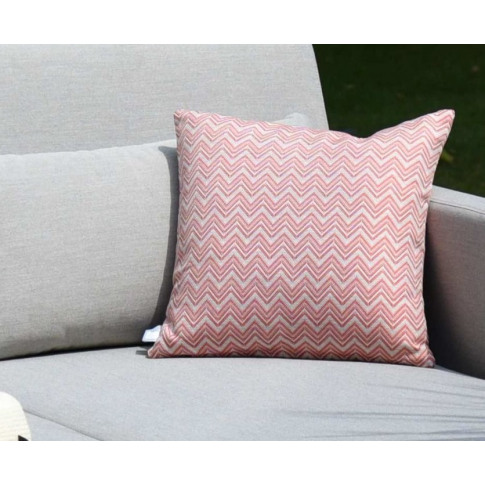 Maze Polines Red Fabric Scatter Cushion