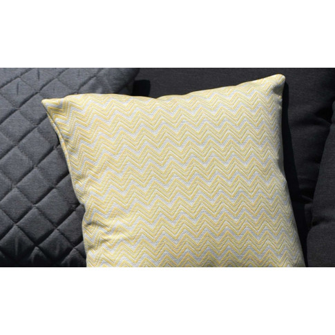 Maze Polines Yellow Fabric Scatter Cushion
