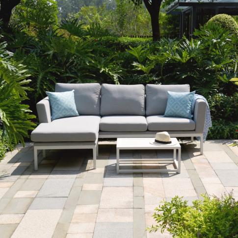 Maze Pulse Lead Chine Fabric Chaise Sofa Set