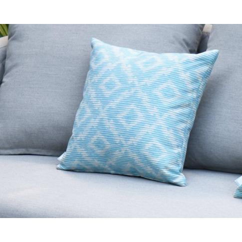 Maze Santorini Aqua Fabric Scatter Cushion