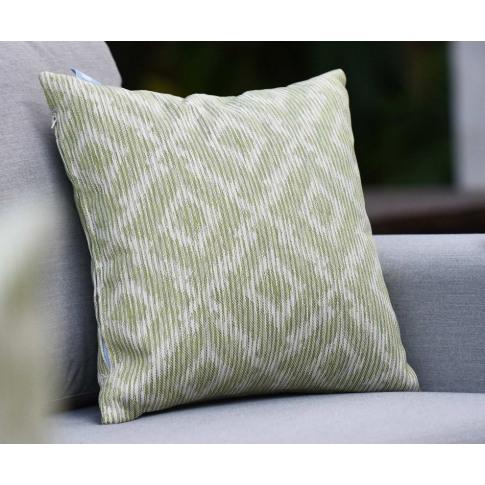 Maze Santorini Green Fabric Scatter Cushion